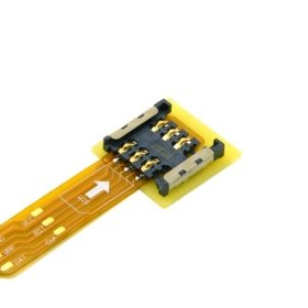 CableCC Micro SIM Card to Nano SIM Kit Male to Female Extension Soft Flat FPC Cable Extender 10cm by cablecc (Image #5)