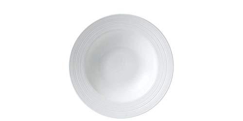 Wedgwood Jasper Conran White Strata Soup Plate - Jasper Strata