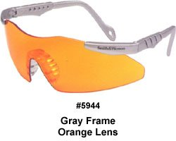 Smith & Wesson Magnum Safety 3G Glasses Platinum Frame, Orange Lens #3011678