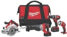MILWAUKEE ELECTRIC TOOL 288995 Combo Cmpt Hmr Dr/Sawzall/Circ Saw/