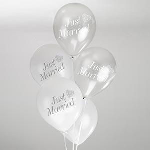 Hochzeit Herz Vintage Romance Just Married Luftballons In Weiss