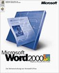 Microsoft Word 2000 CD W32 / Textverarbeitung (Vollversion)