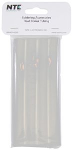NTE Electronics 47-25406-CL Heat Shrink Tubing, Dual Wall with Adhesive, 3:1 Shrink Ratio, 1/2