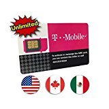 T-Mobile Prepaid SIM Card Unlimited Talk, Text, and Data in USA with 5GB Data in Canada and Mexico for 10 days (Best Data Sim Canada)
