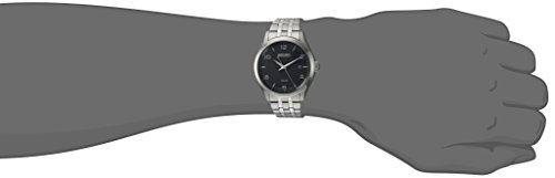 Seiko Mens Dress Japanese-Quartz Watch with Stainless-Steel Strap, Silver, 17.5 (Model: SNE489)