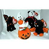 TY Halloweenie Beanie Babies - Halloween 2010 Complete set of 5 (glow, scurry, spooky, swoop & -