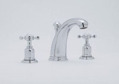 Rohl U.3761X-2 Perrin and Rowe Widespread Bathroom Faucet with Metal Cross Handl, Polished Nickel