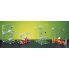 CalMil Clear Yogurt Topping Dispenser, 4 x 11 x 7 inch -- 2 per (Stackable Topping Dispenser)