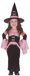 [Witch Pretty Pink Toddler Larg Costume] (Witch Pretty Pink Toddler Costumes)