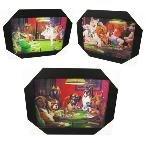 3d Lenticular Framed Picture - POKER POOCHES