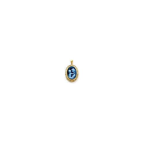 Jewelry Pendants & Charms Cameos 14k Everlasting Love Diamonds Cameo with Sentiment - Cameo Everlasting Love Pendant