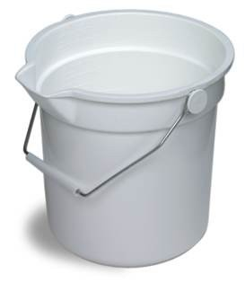 Continental 10 Qt Round Bucket White (8110WH)