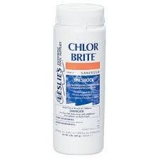 Leslie's Chlor Brite Sanitizer Spa Shock 2 Lbs [Pack of 3] (Chlor Pool Shock)