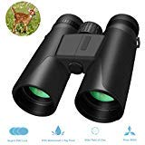 (Whew Binoculars for Adults,10x42 Compact HD Binoculars with Low Light Night Vision for Bird Watching Hunting Hiking Travel Stargazing Concerts Sports, BAK4 Prism FMC Lens with Strap Carrying Bag)
