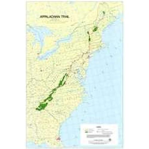Appalachian Trail Map: Amazon.com