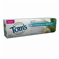Tom's Of Maine Botanically Bright Toothpaste, 4.7 Ounce