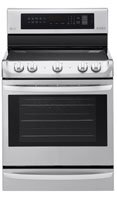 LG LRE4215ST 6.3 cu. ft Electric Single Oven Range with ProBake Convection and EasyClean in Stainless Steel - Stainless Steel