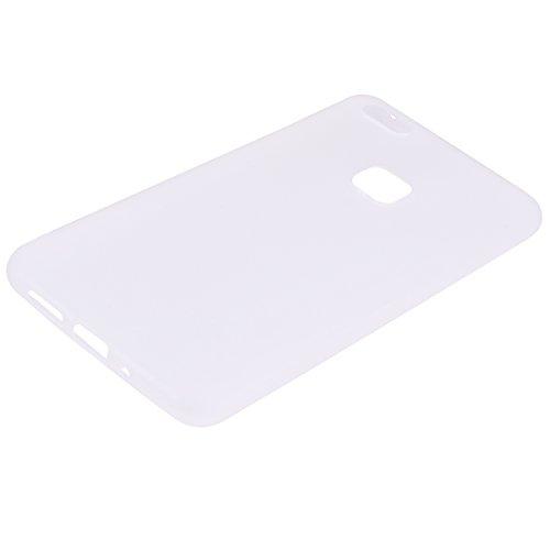 Funda Huawei P10 Lite, E-Lush Suave Silicona TPU Carcasa Ultra Delgado Flexible Gel Parachoques Goma Mate Opaco Case Cover Amortigua Golpes Protectiva Caso para Huawei P10 Lite (5.2 Pulgadas) Smartpho Blanco