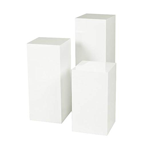 Nesting End Table - Wood End Table - Set of 3 - White (Tables Iron Nesting Square)