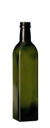 24 pezzi bottiglie vetro scuro UVAG bottiglia marasca olio liquore quadra capienza 250 ml con tappo acquaverde
