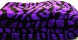 Violet Zebra Super Soft Coral Fleece Blanket Queen 92x76 by WPM Zebra Fleece Blanket