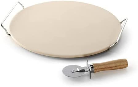 New Pizza Stone Round Baking Rack Chef Oven Natural Large!