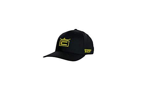 (Cobra Golf 2019 Tour Crown Snapback Hat (Black-Yellow))