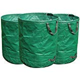 FLORA GUARD 3-Pack 272 Litres Garden Waste Bags - Heavy Duty Compost Bags with Handles