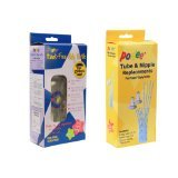 Podee Hands-Free Baby Bottle Combo Pack- Complete Handsfree Feeding System + Tube and Nipple Replacements