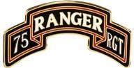 75th Ranger Regiment Scroll Enamel CSIB