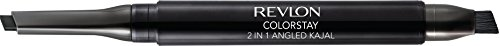 Revlon ColorStay 2-in-1 Angled Kajal Waterproof Eyeliner, Graphite
