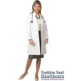 Ladies Traditional Length Lab Coat, White, Size 18