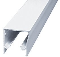 Frameless Sliding Shower Door Header (CRL White Frameless Sliding Shower Door Header Extrusion for 3/8