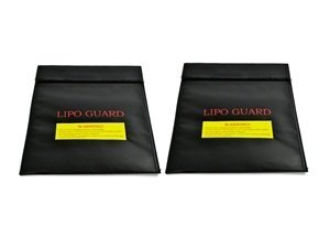 Bluecell 2 pcs Black Medium Size Lipo Battery Guard Sleeve/Bag for Charge & Storage