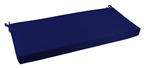 RSH Décor Indoor/Outdoor Bench Cushion Made from Premium Sunbrella Canvas True Blue Fabric - 2