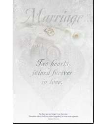 Two hearts joined forever in love (u6211) Wedding Programs by Warner Press