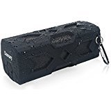 Damusy Portable Waterproof Bluetooth Speaker,NFC Stereo Wireless Speaker with 1800mAh Power Bank/Mic for Outdoor Pool Beach Shower Travel Bicycle Camping -12 Months Warranty (Black)