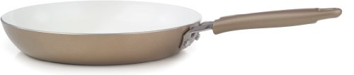 (WearEver C94407 Pure Living Nonstick Ceramic Coating FPOA PTFE Free Saute Pan Fry Pan  Cookware, 12-Inch, Gold)