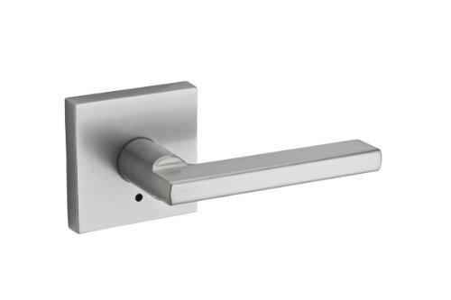 Kwikset 155HFLSQT-26D Satin Chrome Privacy Halifax Privacy Door Lever Set (Exit Door Lever Set)