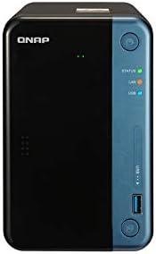 QNAP TS-253Be-2G 16TB 2 Bay Solución NAS de Escritorio | Instalado con 2 x 8 TB Seagate IronWolf Pro Drives