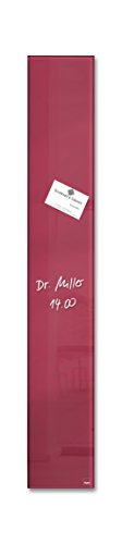 Sigel GL271 Magnetic Glass Board/Magnetic Pinboard Artverum, 12 x 78 cm, Berry Red by Sigel