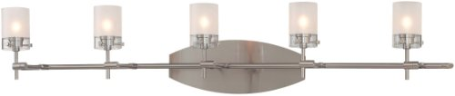 (George Kovacs P5015-084, Shimo, 5 Light Bath FIxture, Brushed Nickel)