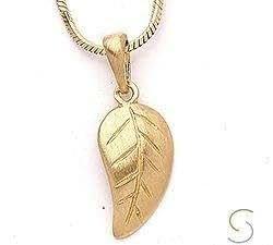 CHANTI - San - Links of Joy hoja colgante en plata dorada - Model:15810