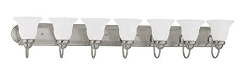 Nuvo Lighting 60/3283 Seven Light Vanity 7, Brushed Nickel/Frosted Glass