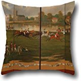 16 X 16 Inches / 40 By 40 Cm Oil Painting Henry Bernard Chalon - The Clarence Gold Cup At Hampton Pillow Covers,twin Sides Is Fit For Drawing Room,play Room,boys,him,bar,play ()
