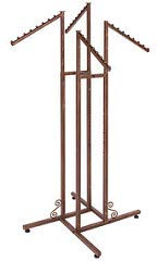 (TableTop King Boutique Cobblestone 4-Way Clothing Rack with Slant Arms)