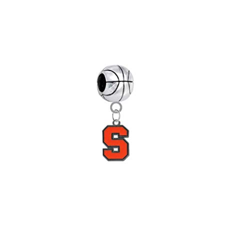 (Syracuse Orange Basketball 3D Universal European Bracelet Charm)