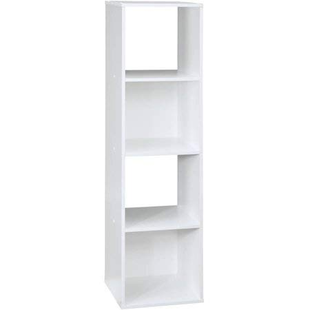 (Shelly Shelves 4 Cube Storage Organizer - Wood Storage Cube - White)