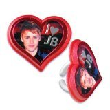 12 CT Red Heart Justin Bieber Cupcake Rings, Health Care Stuffs
