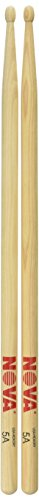 N5AW Nova 5A Drum Stick Brick - Wood Tip, 12 Pair (Nova Drumsticks)